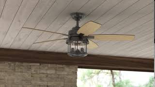 "Hunter 59420 52"" Coral Bay Noble Bronze Ceiling Fan with Light and Handheld Control System"