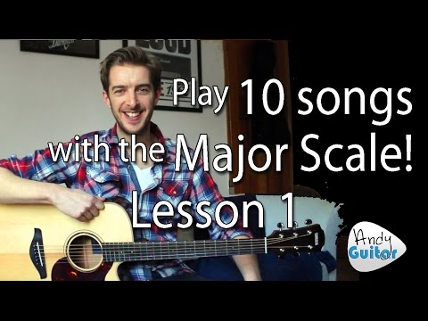 First EASY Scale for Acoustic guitar - C Major Scale EASY TRICK plus 10 Songs!