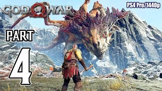 GOD OF WAR Walkthrough PART 4 (PS4 Pro) No Commentary Gameplay @ 1440p ✔