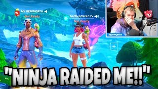 """I GOT RAIDED BY NINJA"" FORTNITE TROLLING RANDOM DUOS"