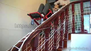 Non-emergency electric powered patient transferring chair/ stretcher by stairs