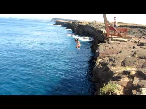 Andrea Cliff Diving in Ka Lea