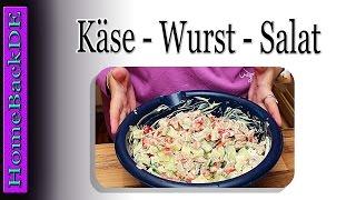 Käse Wurst Salat - Zubereitung von HomeBackDE