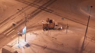 ДТП на перекрестке с выездом на тротуар 25 февраля 2017