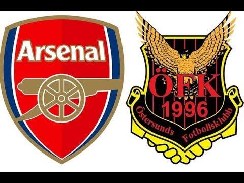 លទ្ធផលរូបភាពសម្រាប់ Arsenal vs Ostersunds