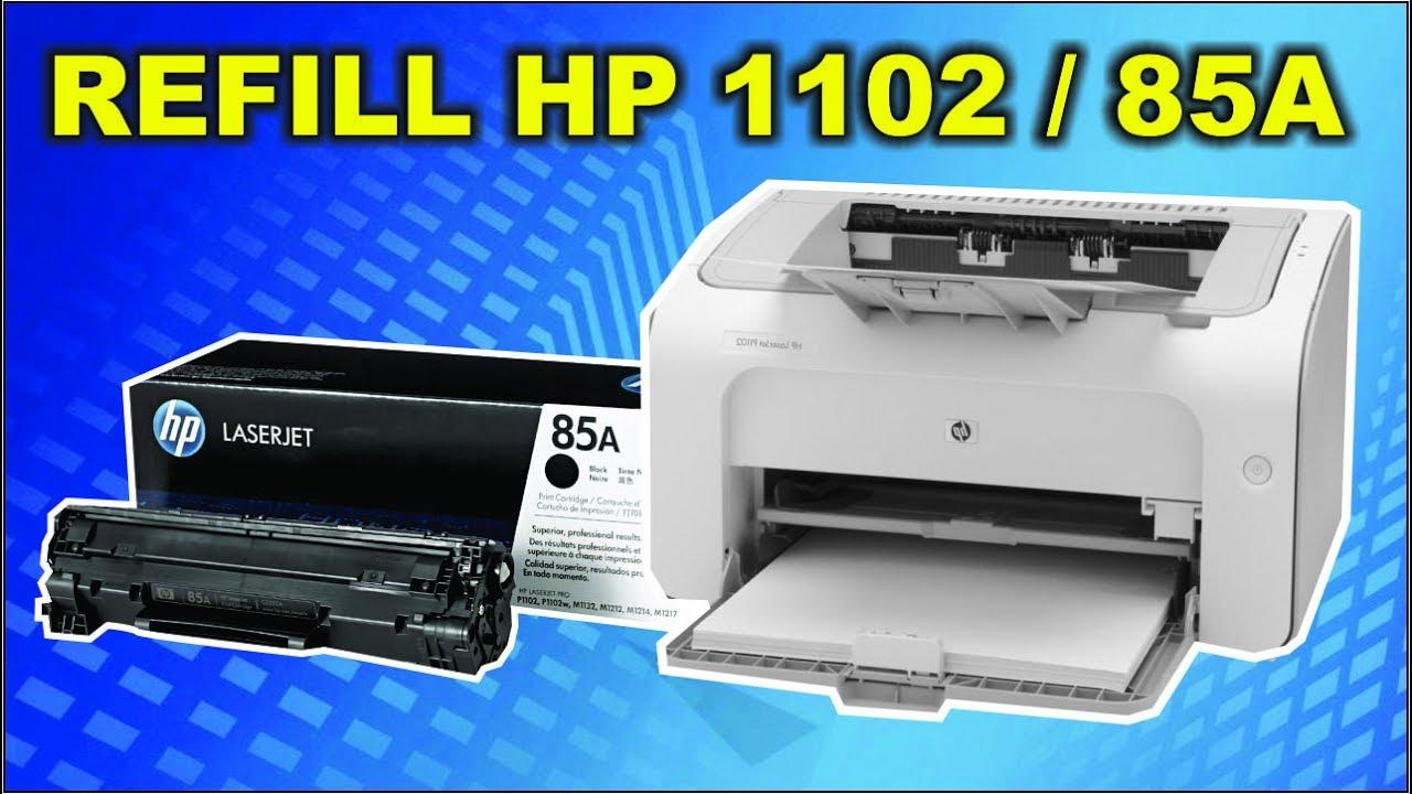 Cara Isi Ulang Refill Cartridge Hp Laserjet 85a P1102 Youtube