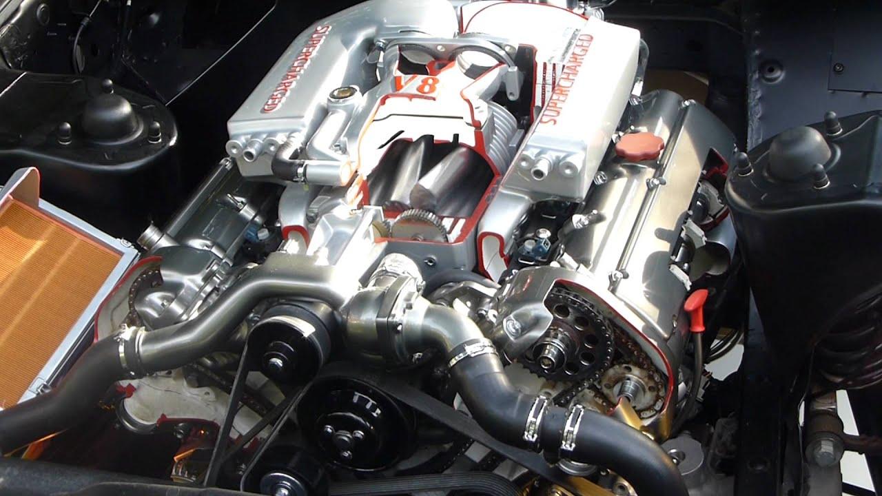 Jaguar Supercharged V8 Engine Slow Mo Youtube