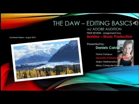 DAW Editing Basics - Adobe Audition CC 2015
