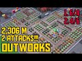 Outworks 2 ATTACKS!!! 2.306 M Health | Forlorn Hope