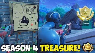SEASON 4 TREASURE! | Follow The Treasure Map Found In Tomato Town! | METEOR TREASURE LOCATION!