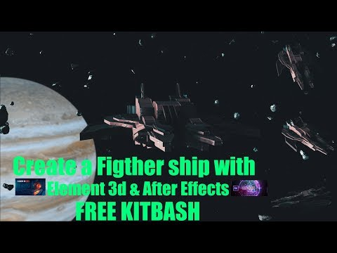 Create a Scifi Jet Fighter with Element 3D & After Effects