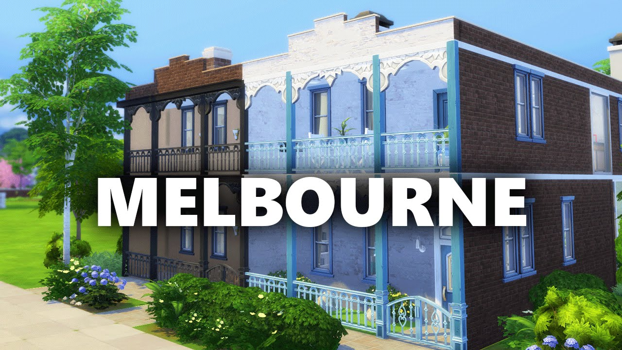 The sims 4 build melbourne terrace houses youtube for Watch terrace house