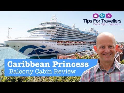 Princess Cruises Carribean Princess Balcony Cabin Tour / Review