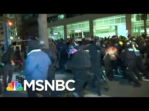 Multiple Arrested, Hospitalized Following Clashes After Pro-Trump Rally   MSNBC