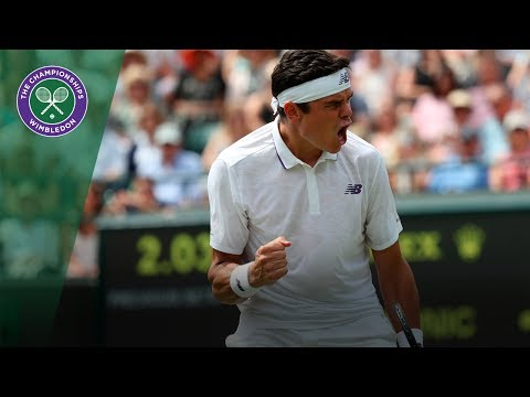Milos Raonic v Jan-Lennard Struff highlights - Wimbledon 2017 first round