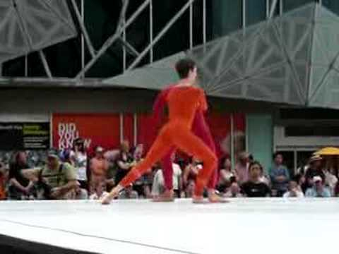 Merce Cunningham dancers at Fed Sq Melbourne 27Oct07 2