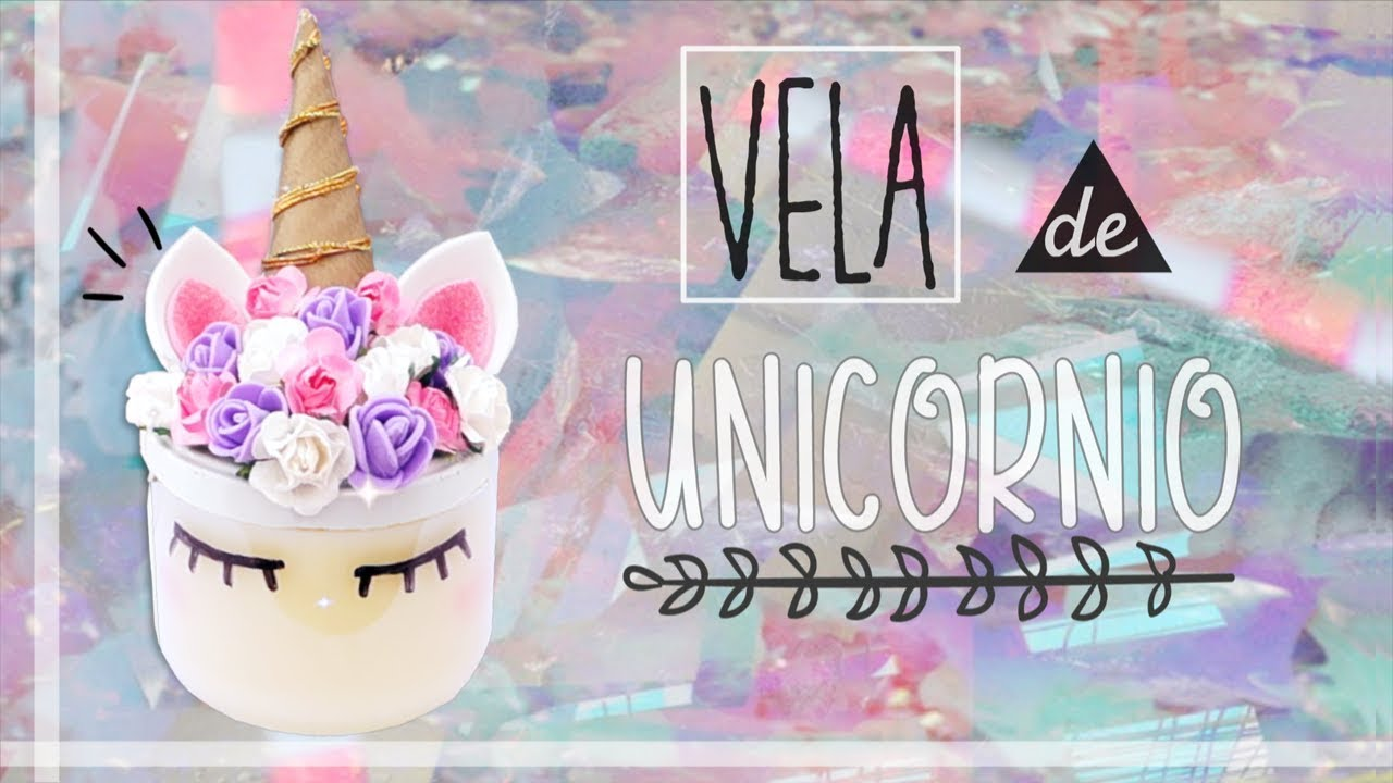 Vela de unicornio kawaii decora tu cuarto room decor for Manualidades para decorar tu cuarto