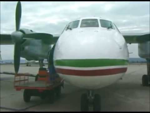 THE SIGHT & THE SOUND 3/4 : Balkan Bulgarian AN-24 LZ-ANC cockpit documentary from Varna to Sofia