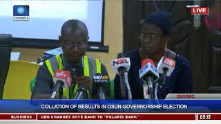 Collation Of Results In Osun Governorship Election Pt.13  Osun Decides 