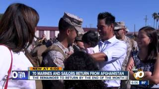 70 Marines, sailors return after tour in Afghanistan