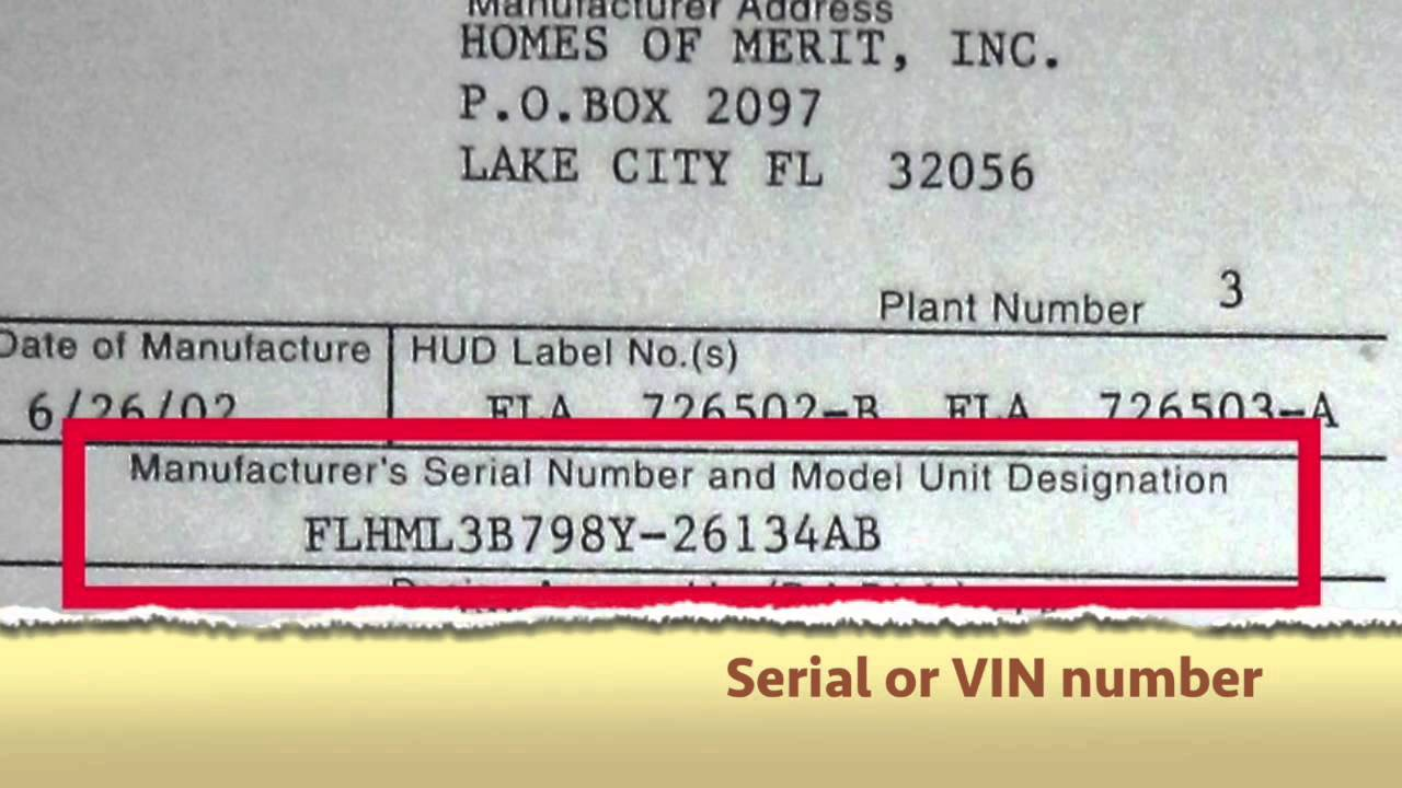 Where do I find the Vehicle Identification Number (VIN) on a mobile on