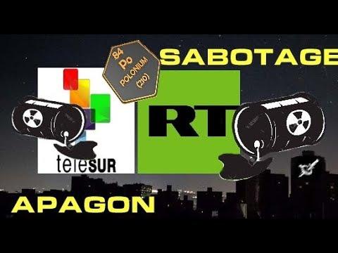 El Apagón en Venezuela. Sabotaje con el virus Polonio 210. TeleSur y RT.