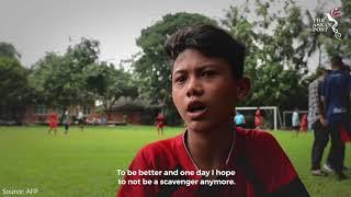 Street side: Indonesia slum kids eye youth 'World Cup'