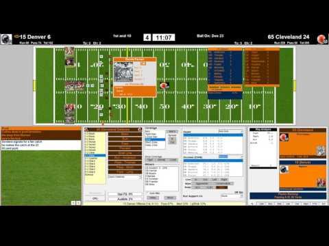 Denver Broncos 2015 vs Cleveland Browns 1965 NFL Challenge League 4th QRT