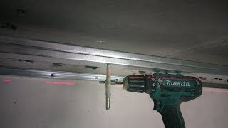 Монтаж профиля на стене потолке под лазер (лазерный нивелир laser level BOSCH PLL 360)