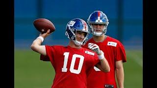 Giants' Eli Manning, Daniel Jones OTA highlights