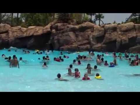 Aquatica Wave Pool 2018 Sea World Orlando Youtube