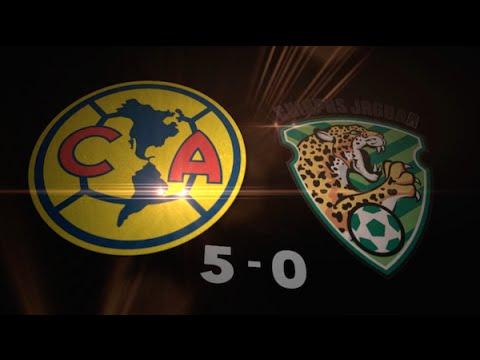 Todos los goles América 5-0 Jaguares Chiapas Liga MX