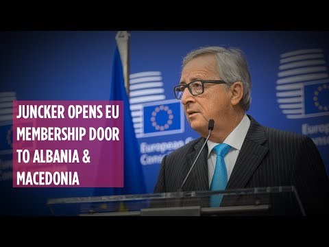 UNCENSORED: Juncker opens EU membership door to Albania & Macedonia