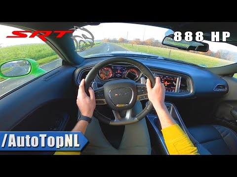 888HP DODGE HELLCAT XR   6.2 V8 SUPERCHARGED   POV Test Drive By AutoTopNL