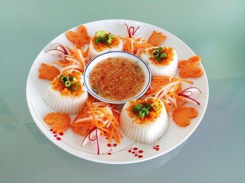 Bánh đúc mặn |  Vietnamese best savory steamed rice cake with dried shrimp