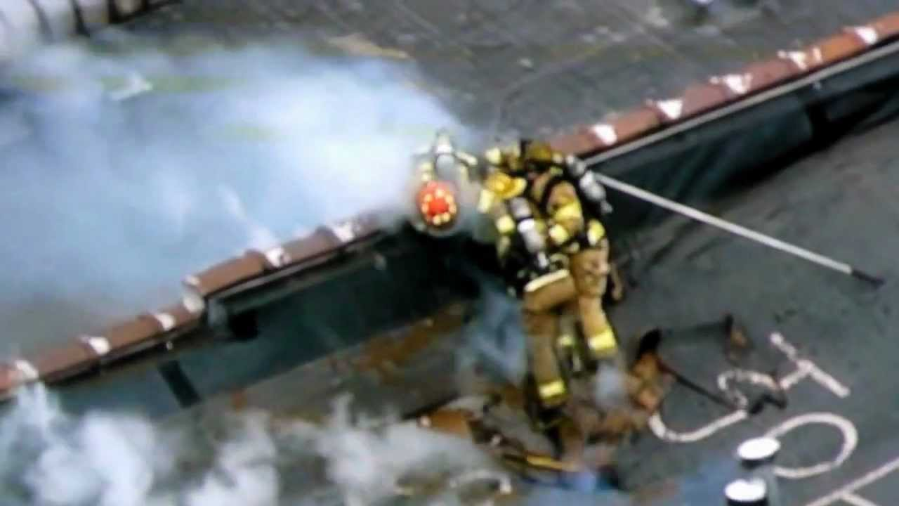 Firefighters Narrowly Escape Roof Collapse In Michigan 3