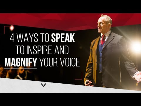 4 WAYS TO SPEAK TO INSPIRE & MAGNIFY YOUR VOICE - London Real Academy