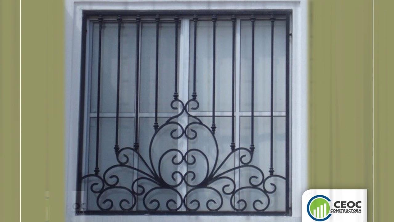 Puertas met licas rejas para ventanas youtube for Modelos de puertas de metal para casas