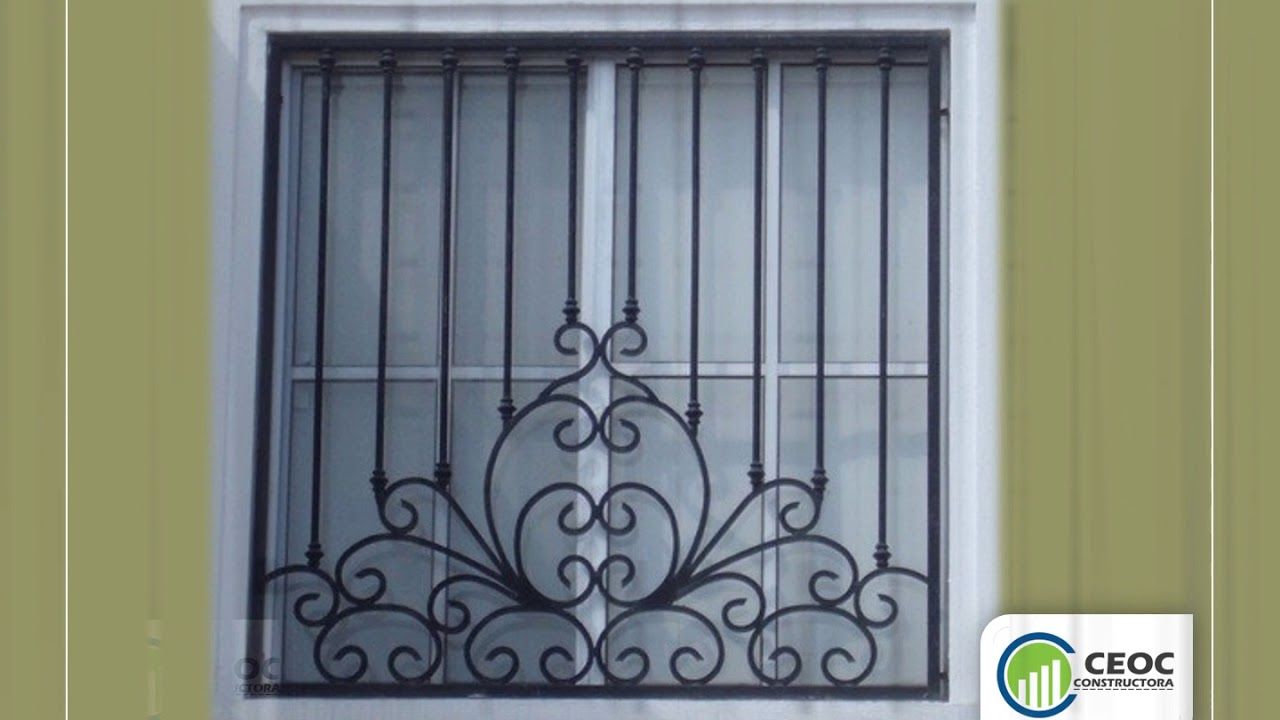 Puertas met licas rejas para ventanas youtube for Modelos puertas metalicas para casas