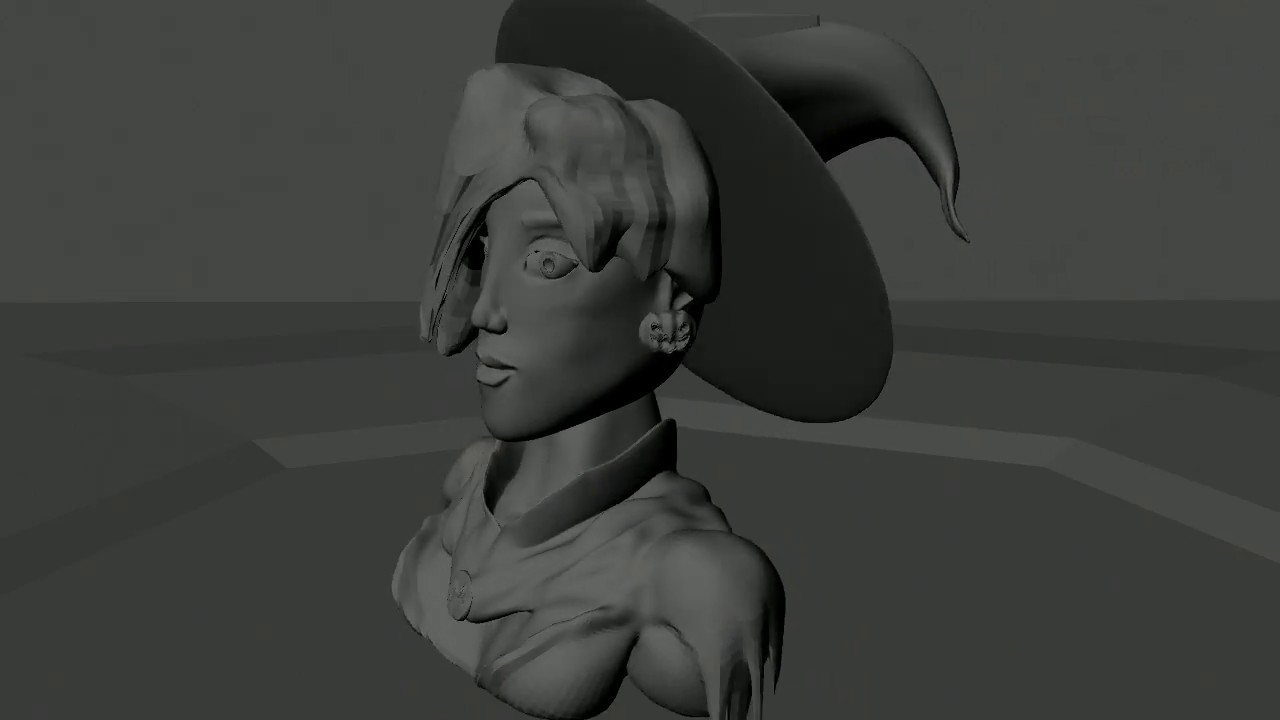 Witch Mercy - Student Zbrush Sculpt