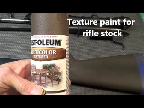 Textured paint rifle stock remodel YouTube