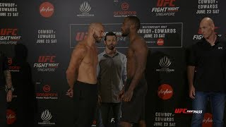 UFC Fight Night 132: Weigh-in Faceoffs Video and Results
