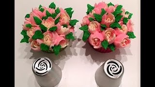 Cake decorating tutorial | how to use Russian Piping tips for roses | Sugarella Sweets