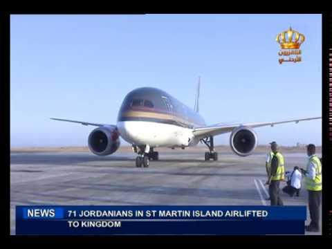 English News at Ten on Jordan Television 19-09-2017
