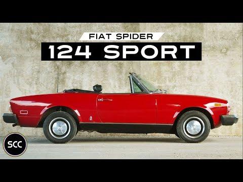 FIAT 124 SPORT SPIDER 1968 - Modest test Drive - Engine sound | SCC TV