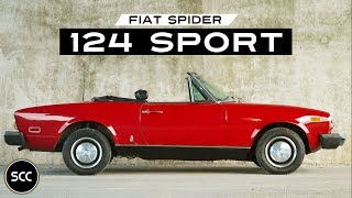 FIAT 124 SPORT SPIDER 1968 - Modest test Drive - Engine sound | SCC TV