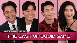 The Squid Game Cast Reveals All Including Origin of The Red Light, Green Light Doll | Tonight Show