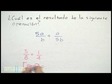 Suma de fracciones algebraicas (convirtiendo fracciones)