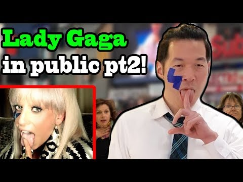 LADY GAGA in PUBLIC 2  Shallow Just Dance Paparazzi