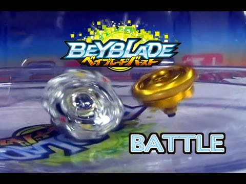 Beyblade Burst ベイブレードバースト B-46 Obelisk Odin Battle 2 VS B-00 Gold Excalibur